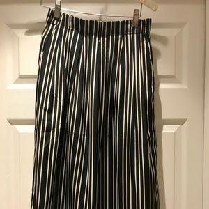 J.crew Striped Midi Skirt Size 0